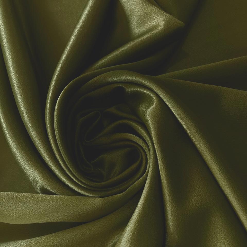 Tecido Cetim Liso Verde Musgo CETIM