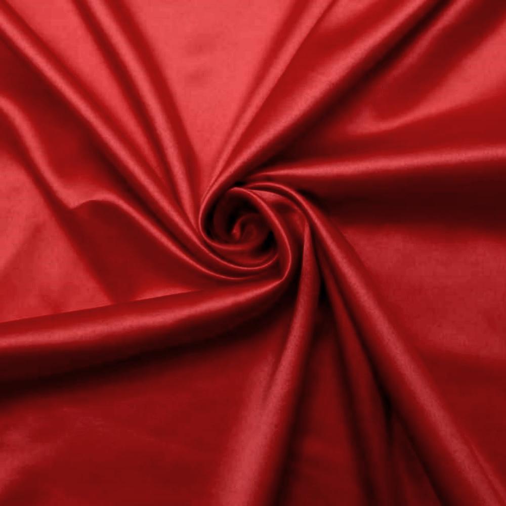 Tecido Cetim Liso Vermelho TECIDO CETIM