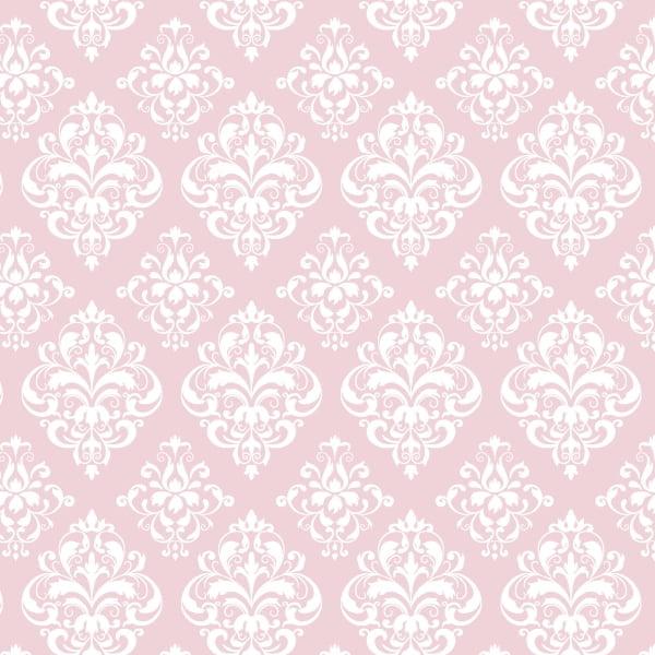 Tricoline Estampado Arabesco Rosa S1514-3 TECIDO TRICOLINE ESTAMPADO