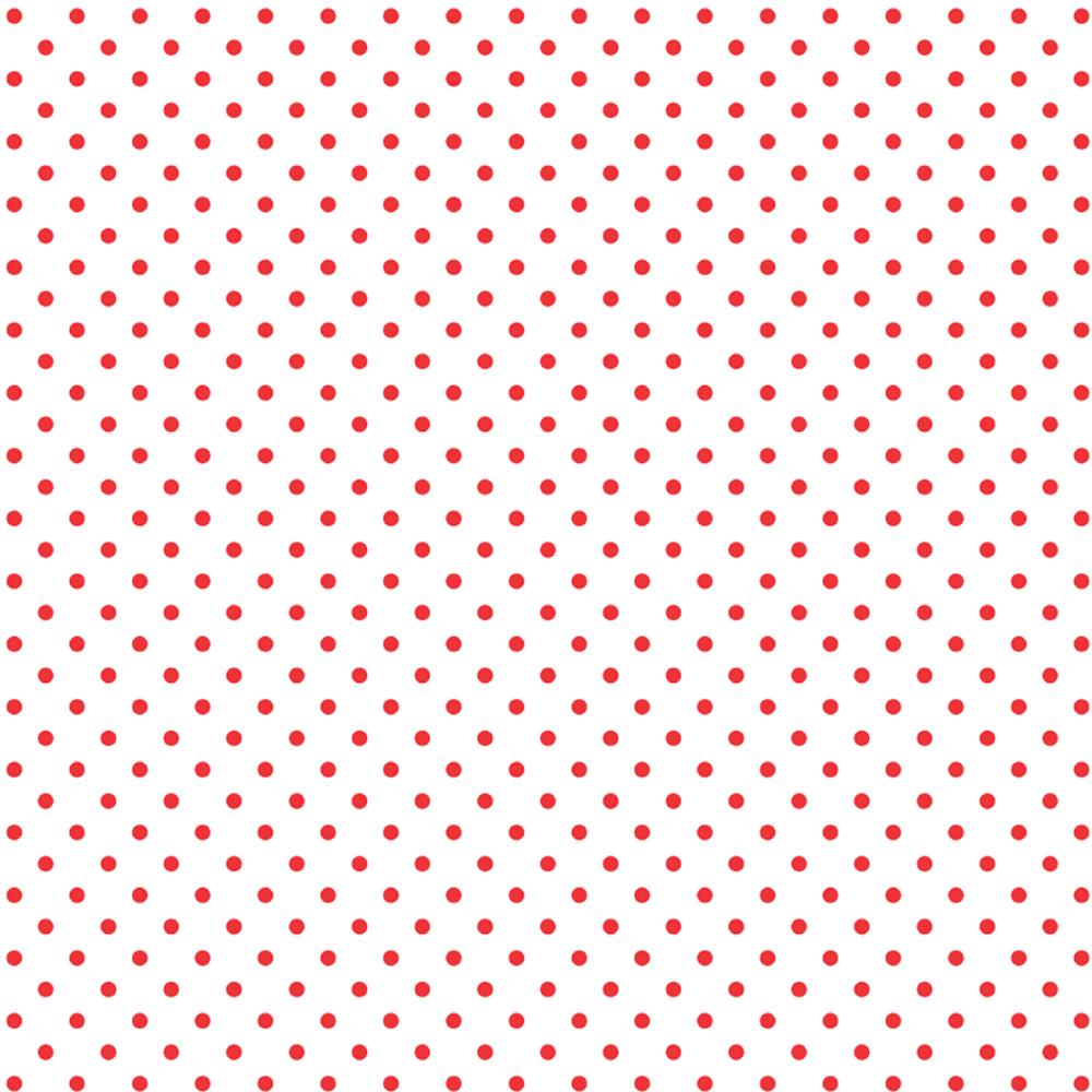 Tricoline Bolinhas Micro P1002-148 Branco com Vermelho TECIDO TRICOLINE ESTAMPADO