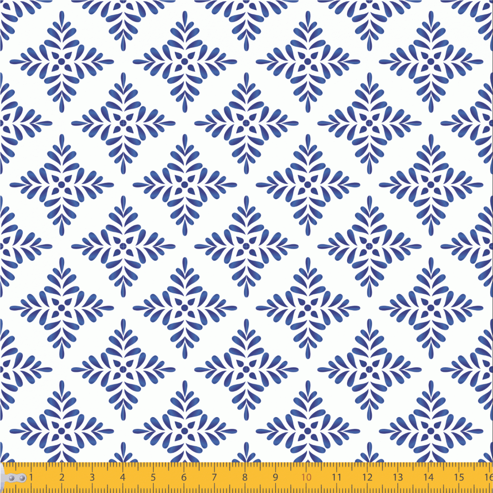 Tricoline Estampado Azulejo P2040-01 TRICOLINE ESTAMPADO