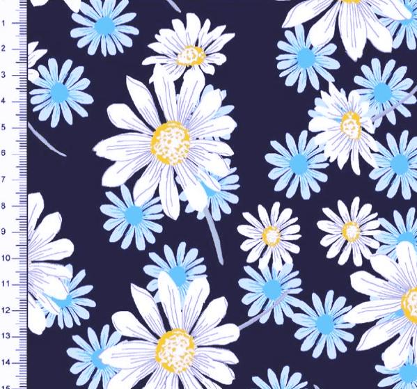 Tricoline Estampado Floral Margaridas DX6481-02 TRICOLINE ESTAMPADO
