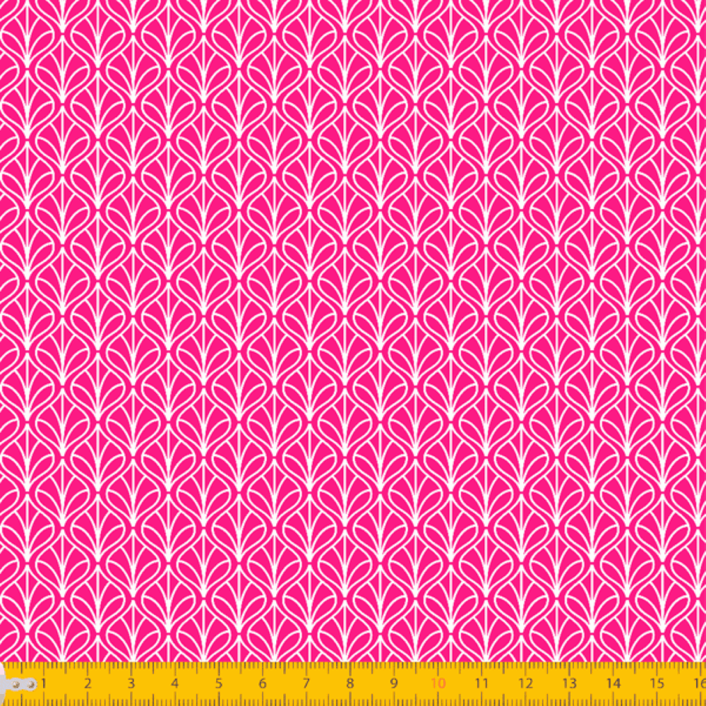 Tricoline Estampado Folhas P1232-108 Pink TRICOLINE ESTAMPADO