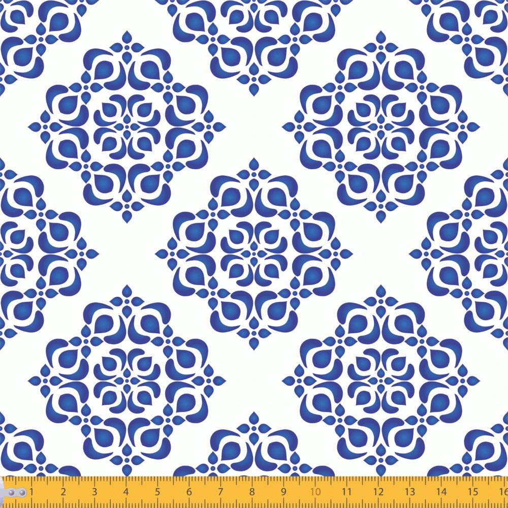 Tricoline Estampado Azulejo Mandala P2019-01 TRICOLINE ESTAMPADO