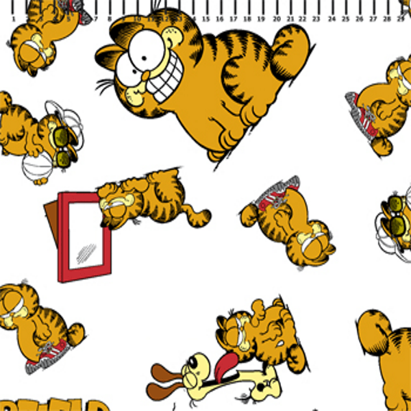 Tricoline Personagens Garfield GA006C01 TECIDO TRICOLINE ESTAMPADO