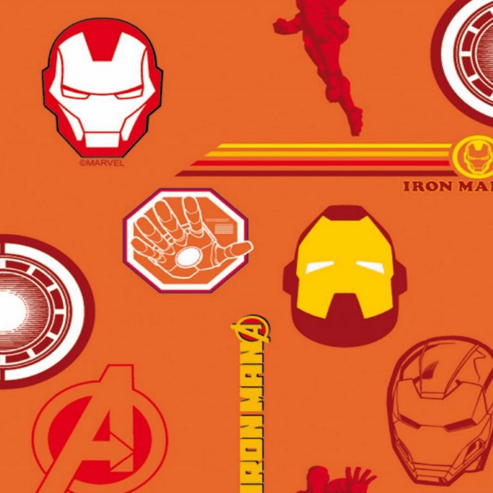 Tricoline Personagens Marvel Vingadores AV003C01 Homem de Ferro TECIDO TRICOLINE ESTAMPADO