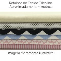 Retalhos Variados de Tricoline - aproximadamente 5 metros RETALHOS