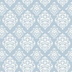 Tricoline Estampado Arabesco Azul S1514-2