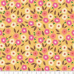 Tecido Tricoline Estampado Floral Aquarela P8069-02