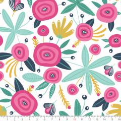 Tecido Tricoline Estampado Floral Paint P8070-01