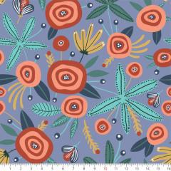 Tecido Tricoline Estampado Floral Paint P8070-02