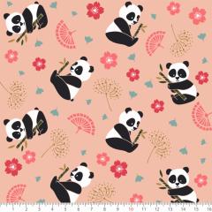 Tecido Tricoline Estampado Urso Panda P7133-02