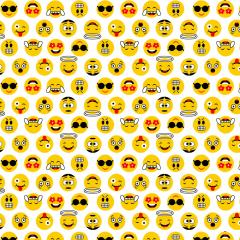 Tricoline Estampado Emoji S18084-01