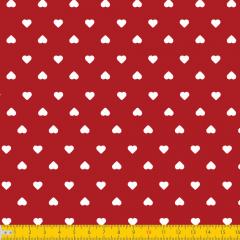 Tricoline Estampada Coração P1302-106