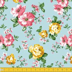 Tricoline Estampada Floral P8046-01