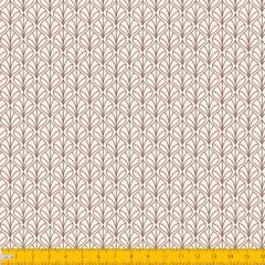 Tricoline Estampado Folhas P1227-57 Bege