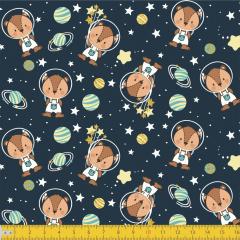Tricoline Estampado Raposa Astronauta P8038-01
