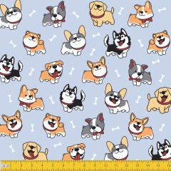 Tricoline Estampado Cachorros P6138-01