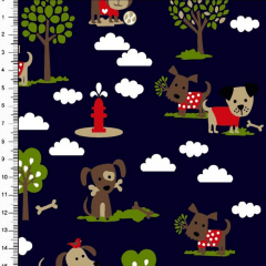Tricoline Estampado Cachorros DX6487-01