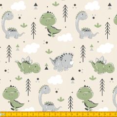 Tricoline Estampado Dinossauros A40270-01