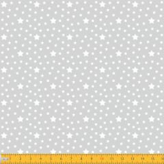 Tricoline Estampado Estrelas P1229-91 Cinza