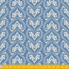 Tricoline Estampado Étnico P1227-131 Jeans