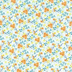 Tricoline Estampado Floral Cassis S176-02