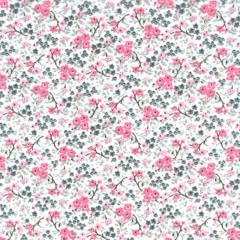 Tricoline Estampado Floral Cassis S176-03