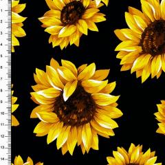 Tricoline Estampado Floral Girassol DX6410-01