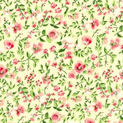Tricoline Estampado Floral Sacramento S1222-01 TRICOLINE ESTAMPADO