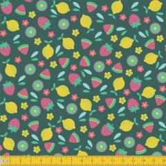 Tricoline Estampado Frutas P5028-01