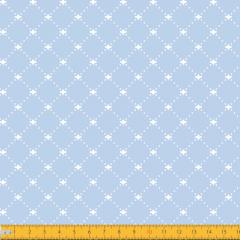 Tricoline Estampado Geométrico Lis P1192-82 Azul