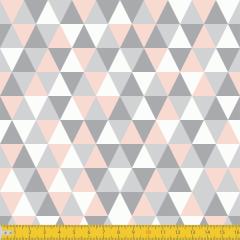 Tricoline Estampado Geométrico P3048-02 Rosa