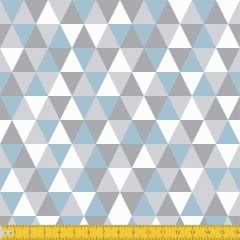 Tricoline Estampado Geométrico P3048-03 Azul