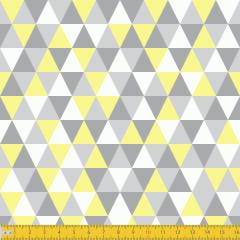 Tricoline Estampado Geométrico P3048-04 Amarelo