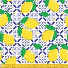 Tricoline Estampado Limão Siciliano P6027-01