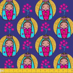 Tricoline Estampado Nossa Senhora de Aparecida P8048-01