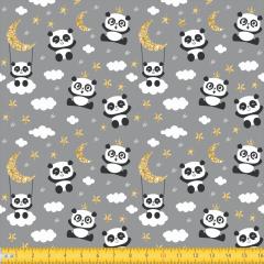 Tricoline Estampado Ursinho Panda P3049-01