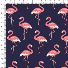Tricoline Flamingos DX5318-4 Azul Marinho