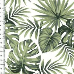 Tricoline Floral Costela de Adão DX5346-01