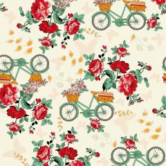 tricoline-estampado-algodao-floral-rosas-flores-bicicleta