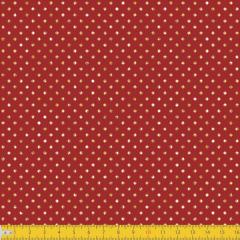 Tricoline Estampado Natal Poás Dourado P1001-58