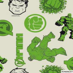 Tricoline Personagens Marvel Vingadores AV005C01 Hulk
