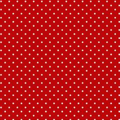 Tricoline Bolinhas Micro P1002-106 Vermelho com Branco