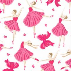 Tricoline Estampado Bailarinas Rosa 1