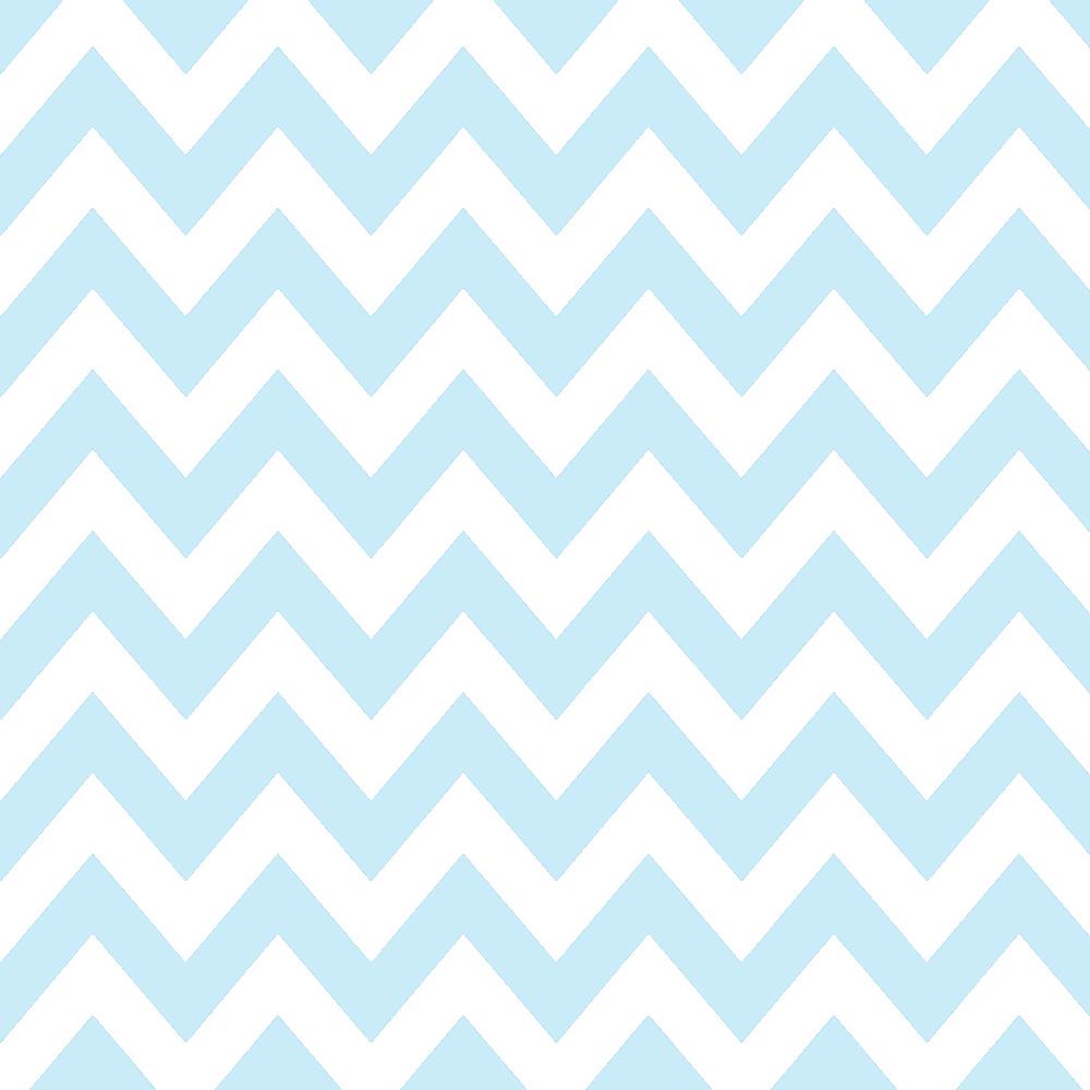 Tricoline 100% algodão Zig Zag Chevron Azul BB DX1676-16 TECIDO TRICOLINE ESTAMPADO