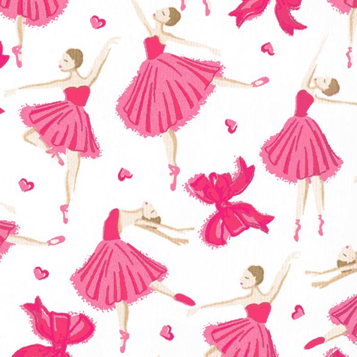 Tricoline Estampado Bailarinas Rosa 1 - Infantil